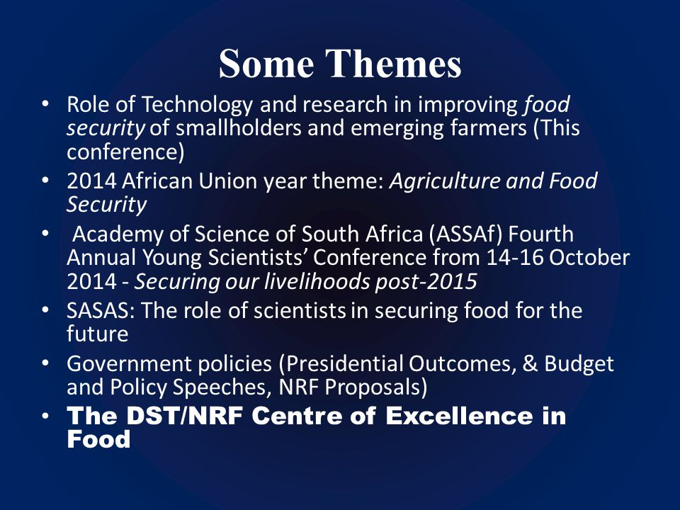 Can science and good governance deliver dinner?