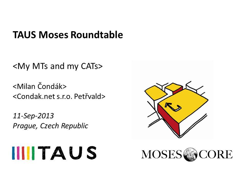 TAUS Moses Roundtable 11-Sep-2013 Prague, Czech Republic
