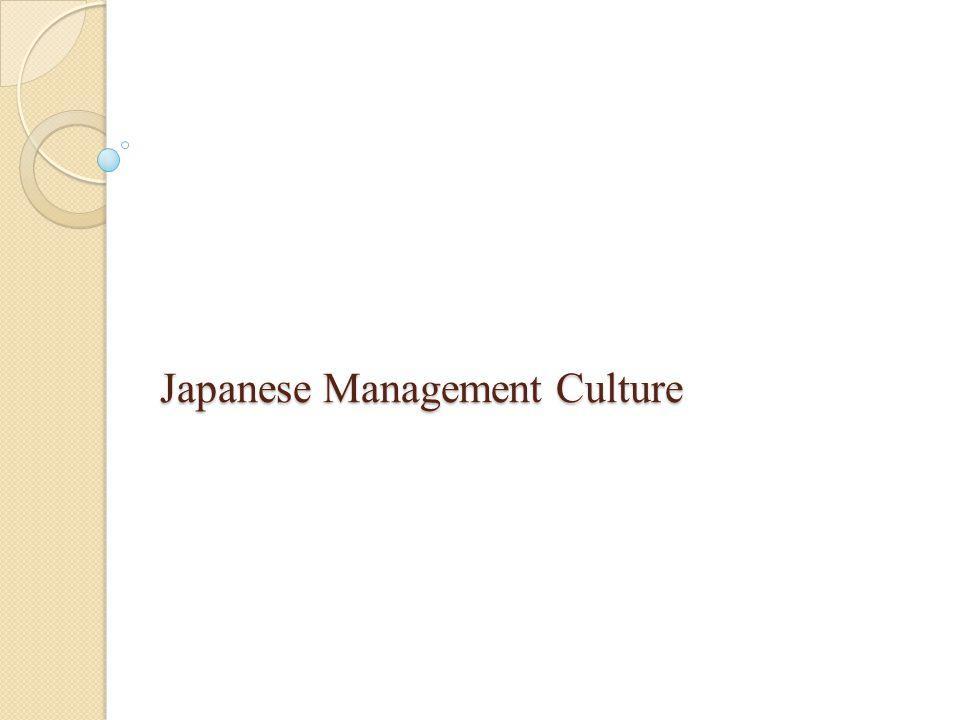 Japanese Management Culture