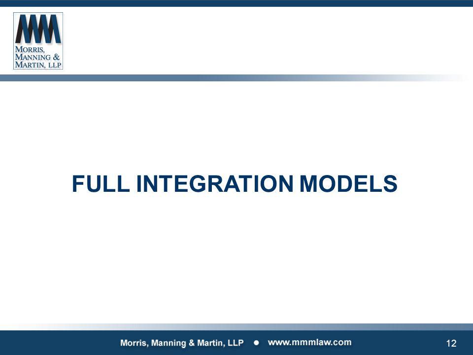 12 FULL INTEGRATION MODELS