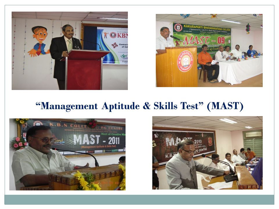 """Management Aptitude & Skills Test"" (MAST)"