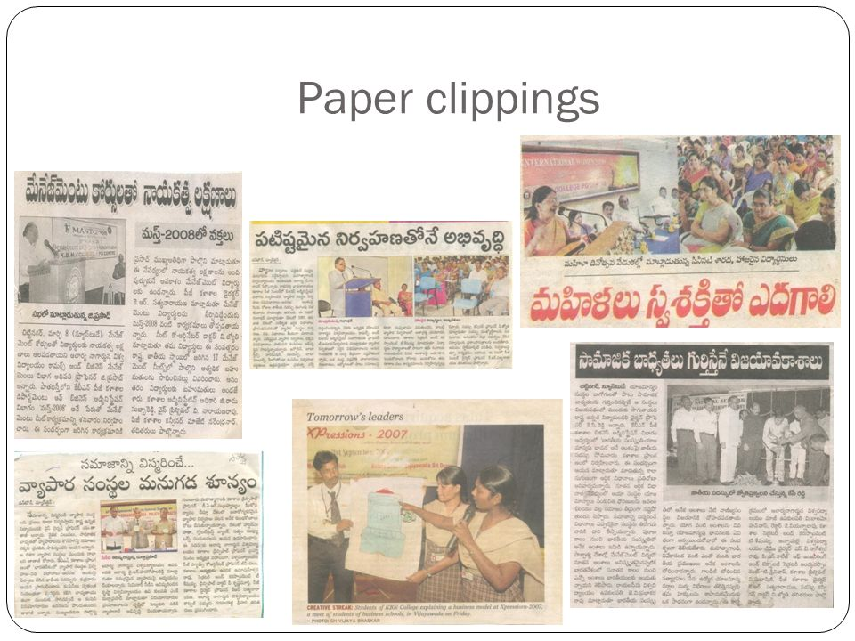 Paper clippings