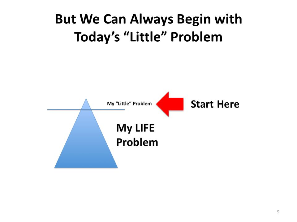 But We Can Always Begin with Today's Little Problem 9 Start Here