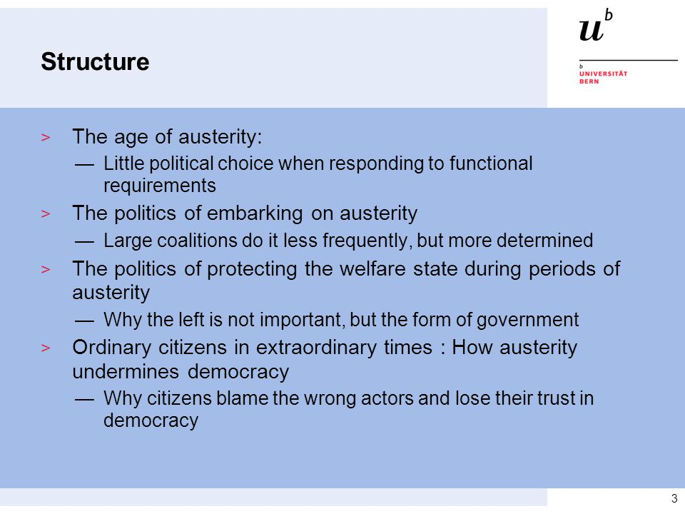 The Age of Austerity: Little political choice when responding to functional requirements > Besides from TINA: A new dominant and institutionally embedded discourse: Liberalize.