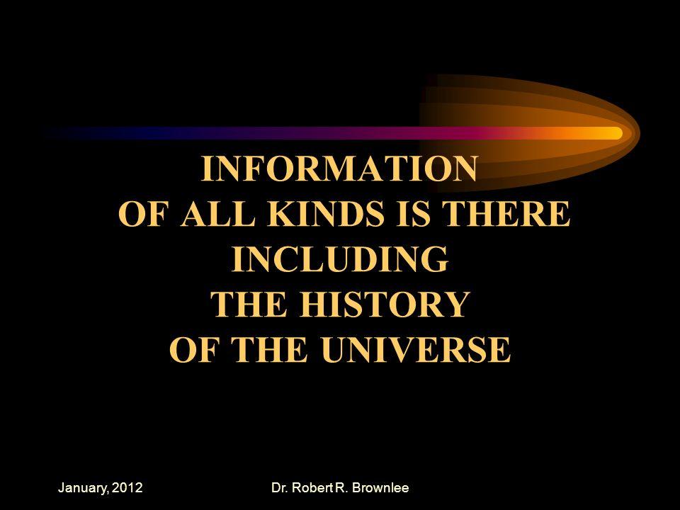 January, 2012Dr. Robert R.