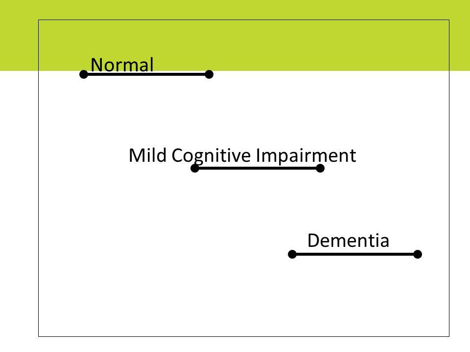 Normal Mild Cognitive Impairment Dementia