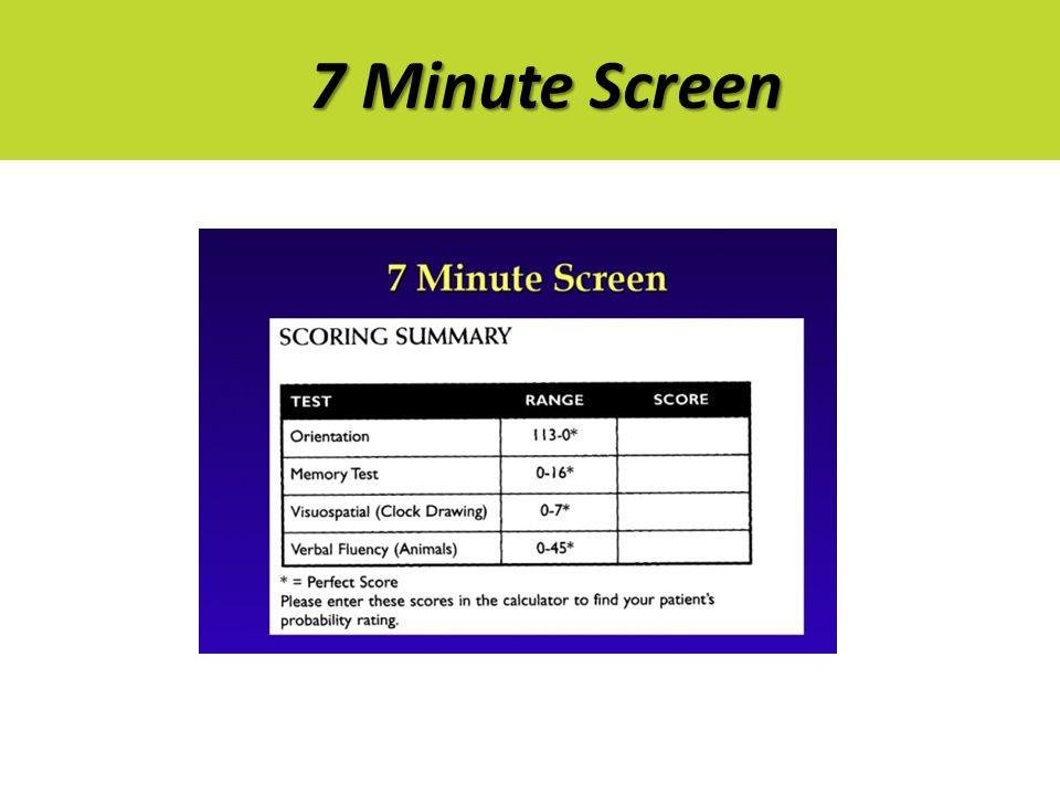 7 Minute Screen