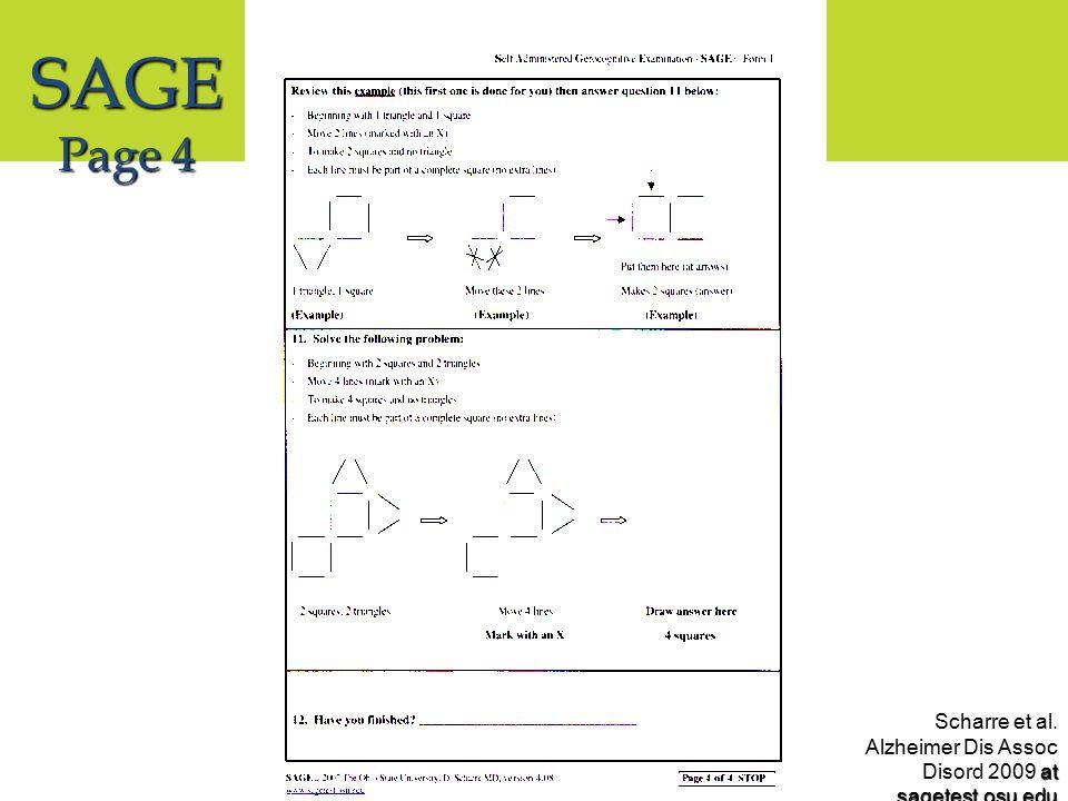 at sagetest.osu.edu Scharre et al. Alzheimer Dis Assoc Disord 2009 at sagetest.osu.edu SAGE Page 4