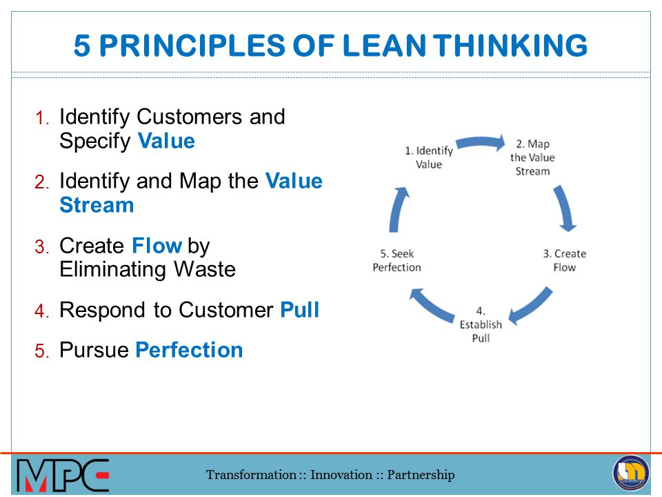 Transformation :: Innovation :: Partnership WHY IS LEAN? 1.Lean focuses on the related process 2.Lean has a measurable impact on time, capacity, and c