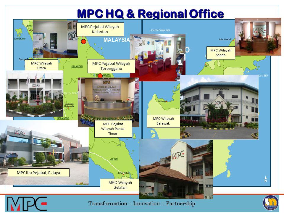 Transformation :: Innovation :: Partnership MPC HQ & Regional Office MPC Wilayah Selatan MPC Wilayah Sarawak MPC Wilayah Utara MPC Ibu Pejabat, P.