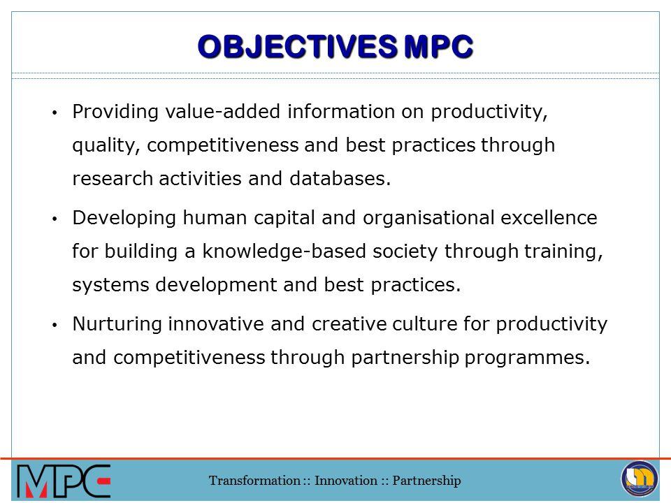 Transformation :: Innovation :: Partnership 1.
