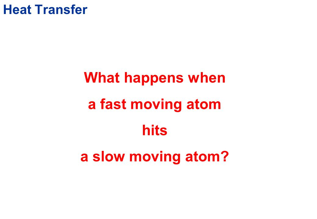 Heat Transfer Hot ObjectCold Object What happens when they come closer