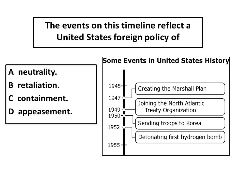 The events on this timeline reflect a United States foreign policy of A neutrality.