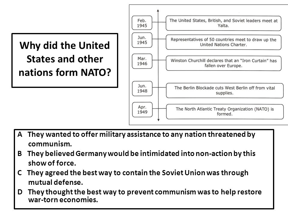 Why did the United States and other nations form NATO.