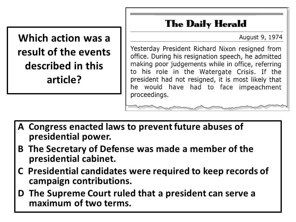Which action was a result of the events described in this article.