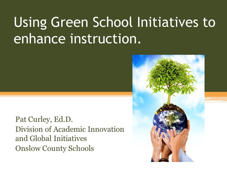 Using Green School Initiatives to enhance instruction.