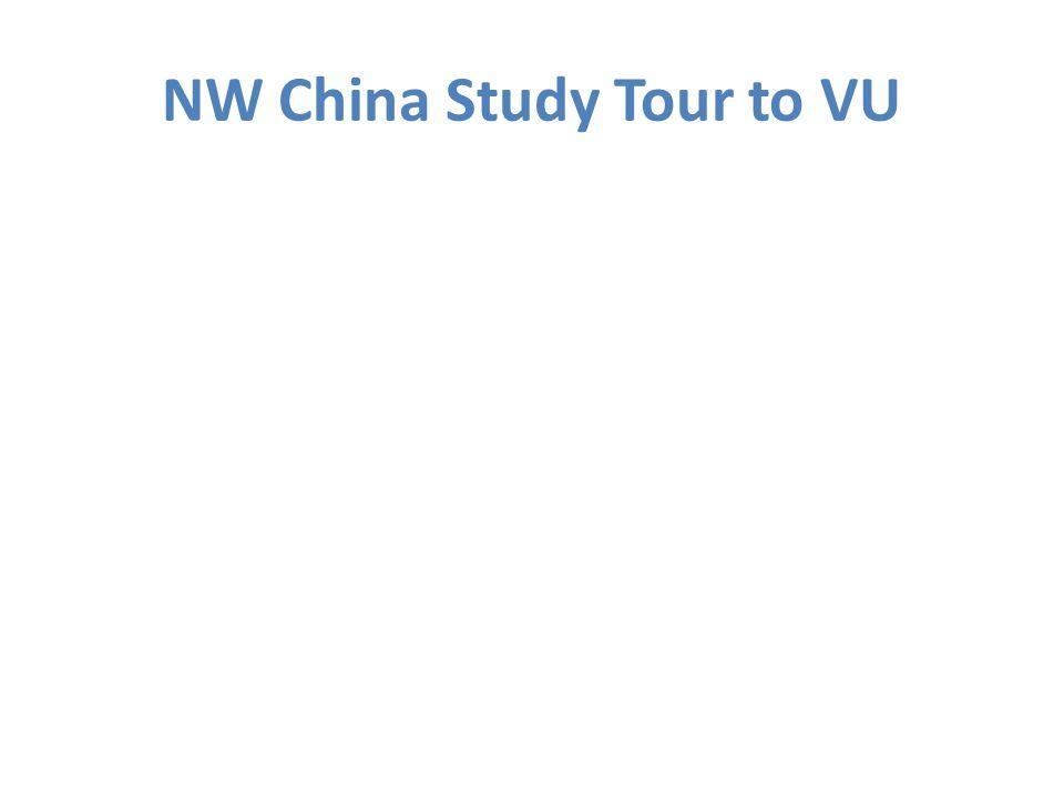NW China Study Tour to VU