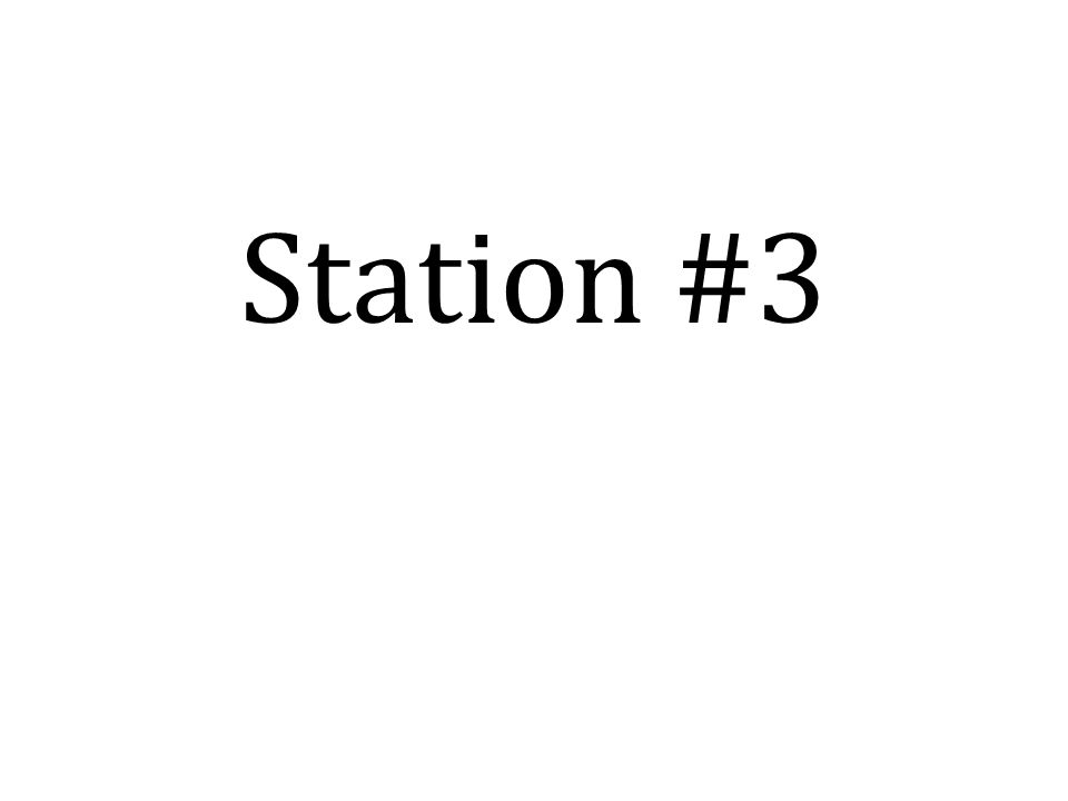 Station #3