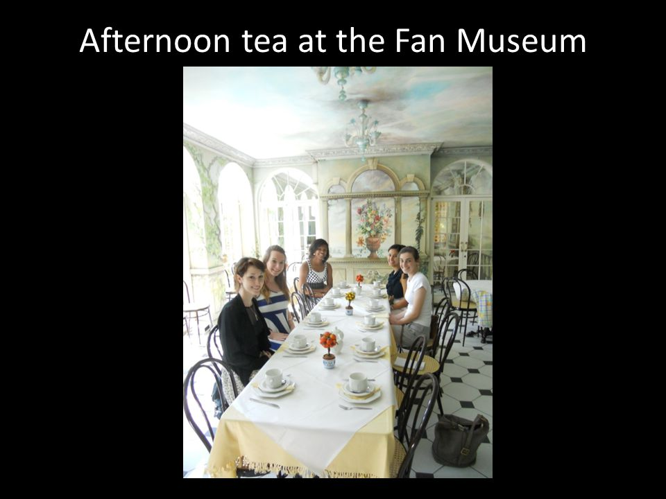 Afternoon tea at the Fan Museum