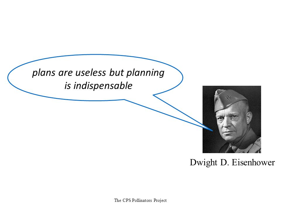 The CPS Pollinators Project Dwight D. Eisenhower plans are useless but planning is indispensable