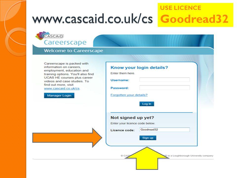 www.cascaid.co.uk/cs USE LICENCE Goodread32