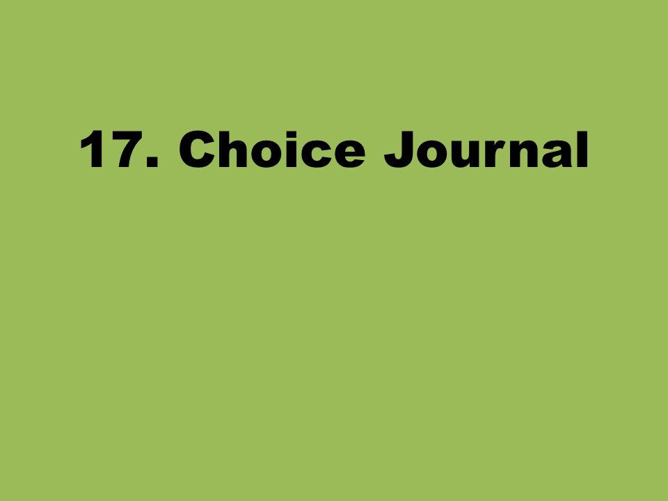 17. Choice Journal