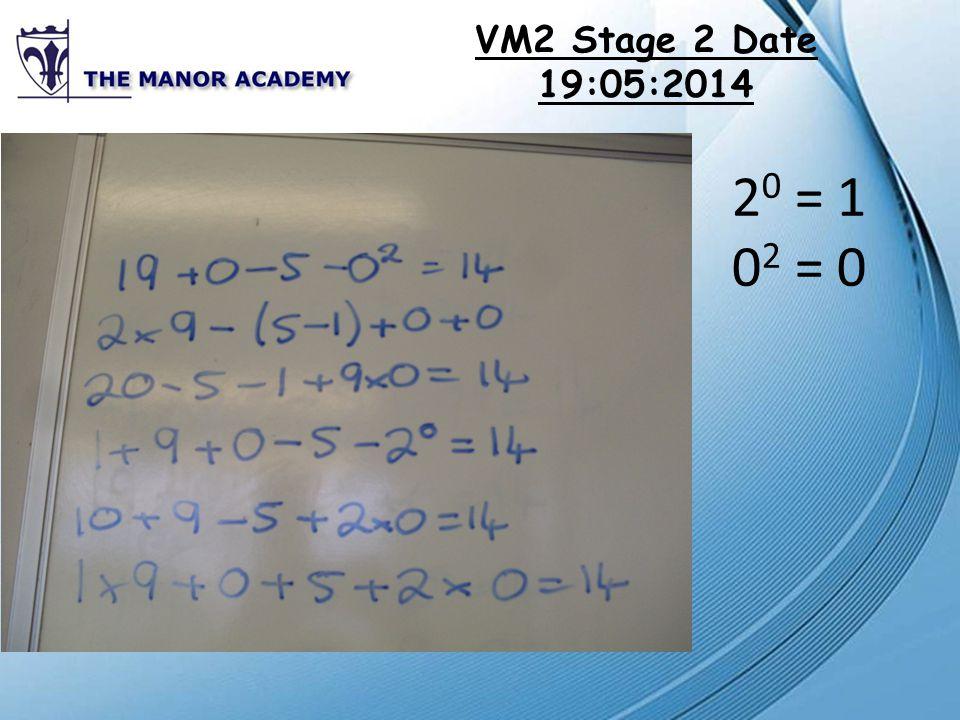 VM3 Stage 1 Date 21:05:2014