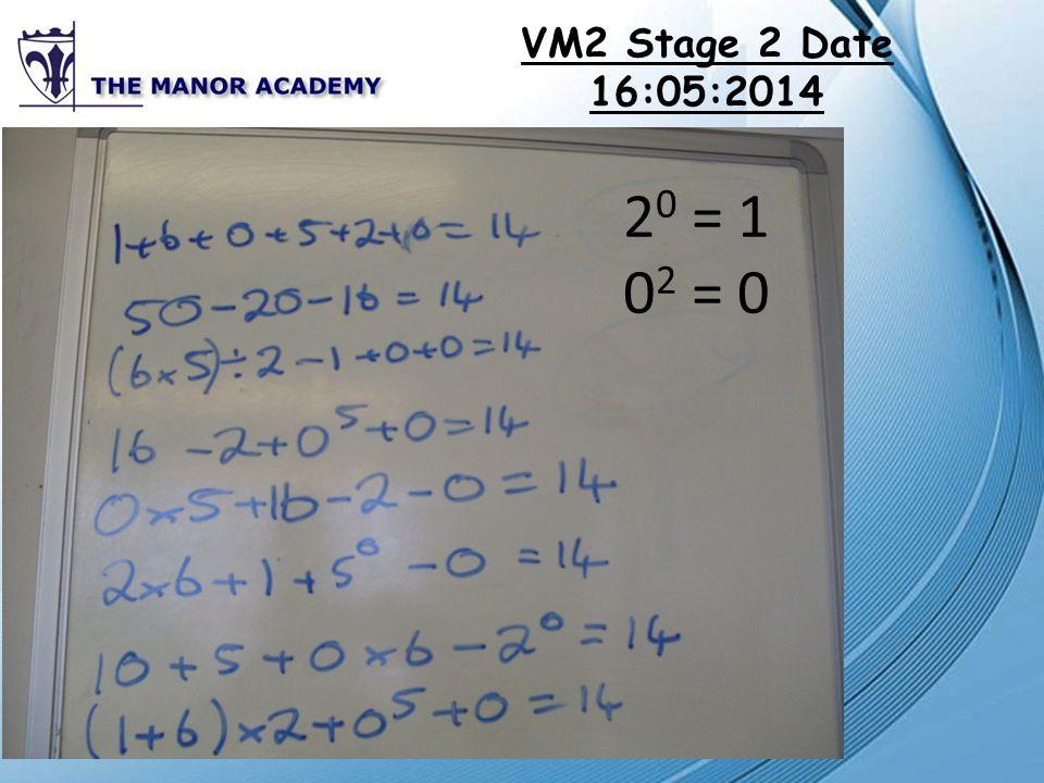 VM2 Stage 2 Date 19:05:2014 2 0 = 1 0 2 = 0