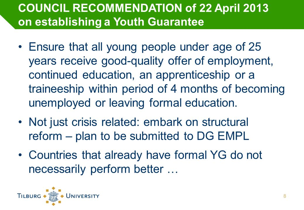 The Youth Employment Free Zone Policies should aim at early intervention and prevention Evidence based: good data &knowledge of stock and flows of young people, from primary school onwards Monitoring their careers and the turns they take Involving all stakeholders Building more productive roads towards employment – avoiding and blocking wrong turn 9
