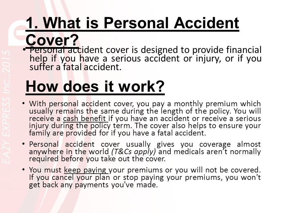 What is Accident. An event that happens by chance or that is without apparent or deliberate cause.