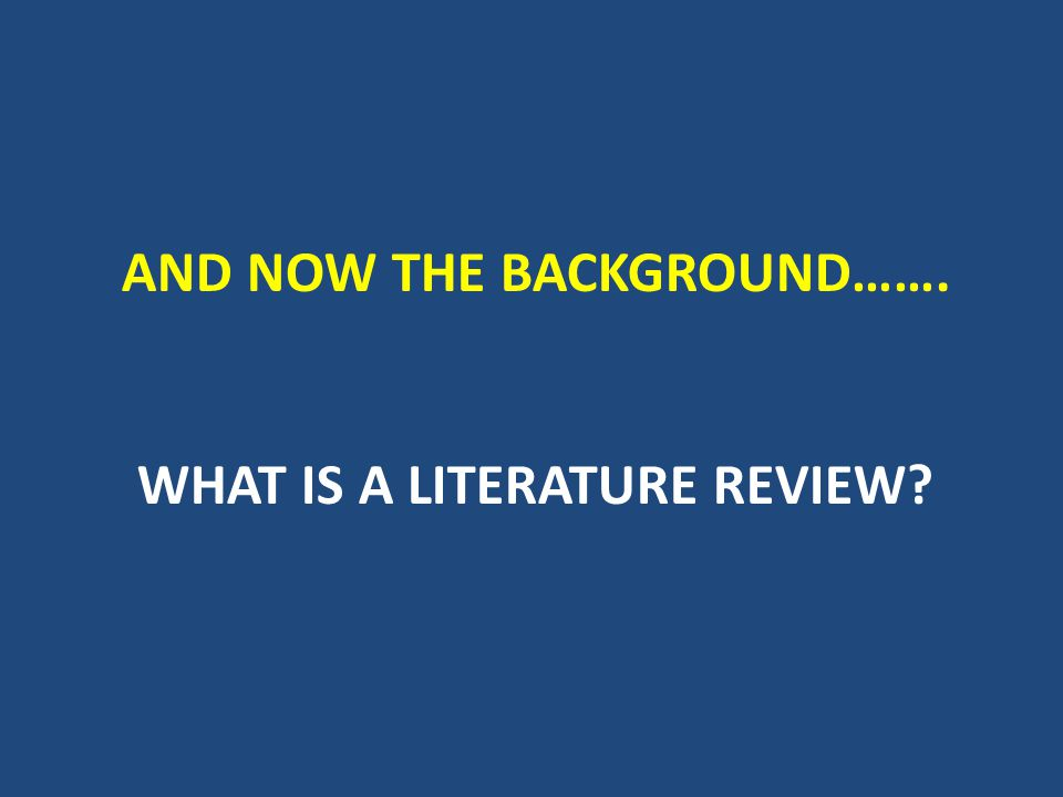 What is it.A literature review surveys scholarly articles, books and other sources (e.g.