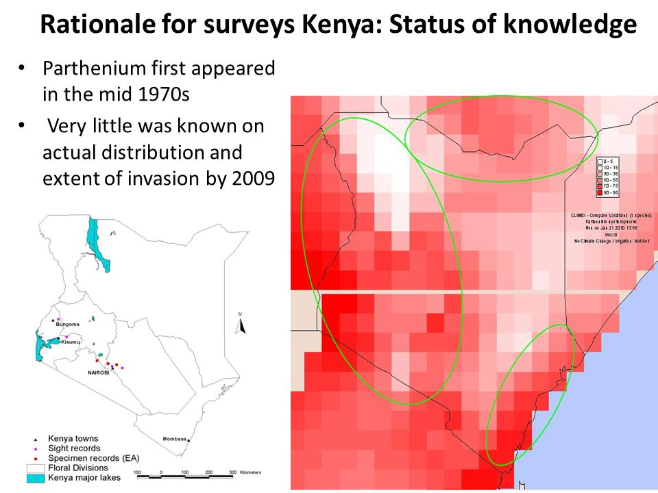 PATTERNS OF DISTRIBUTION: 1  ALTITUDE Lake Victoria Basin in western Kenya relatively low Nairobi and Central Kenya quite high above sea level  Correlation with altitude not obvious