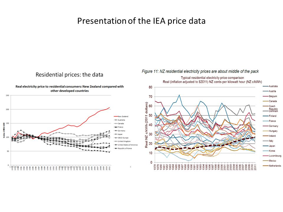 Presentation of the IEA price data
