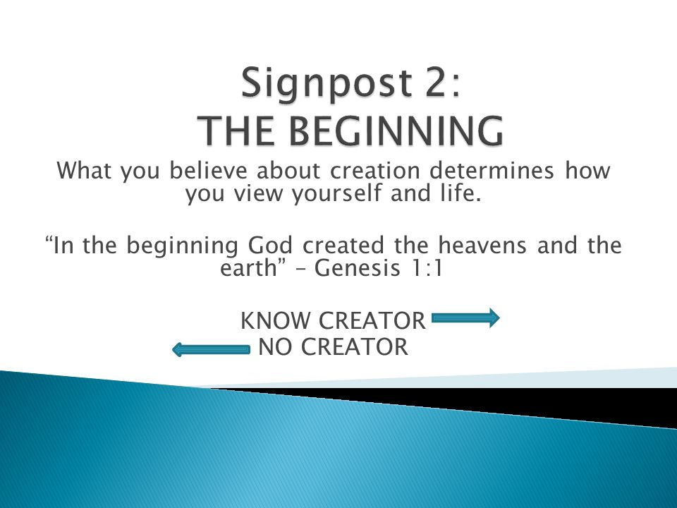 What you believe about creation determines how you view yourself and life.