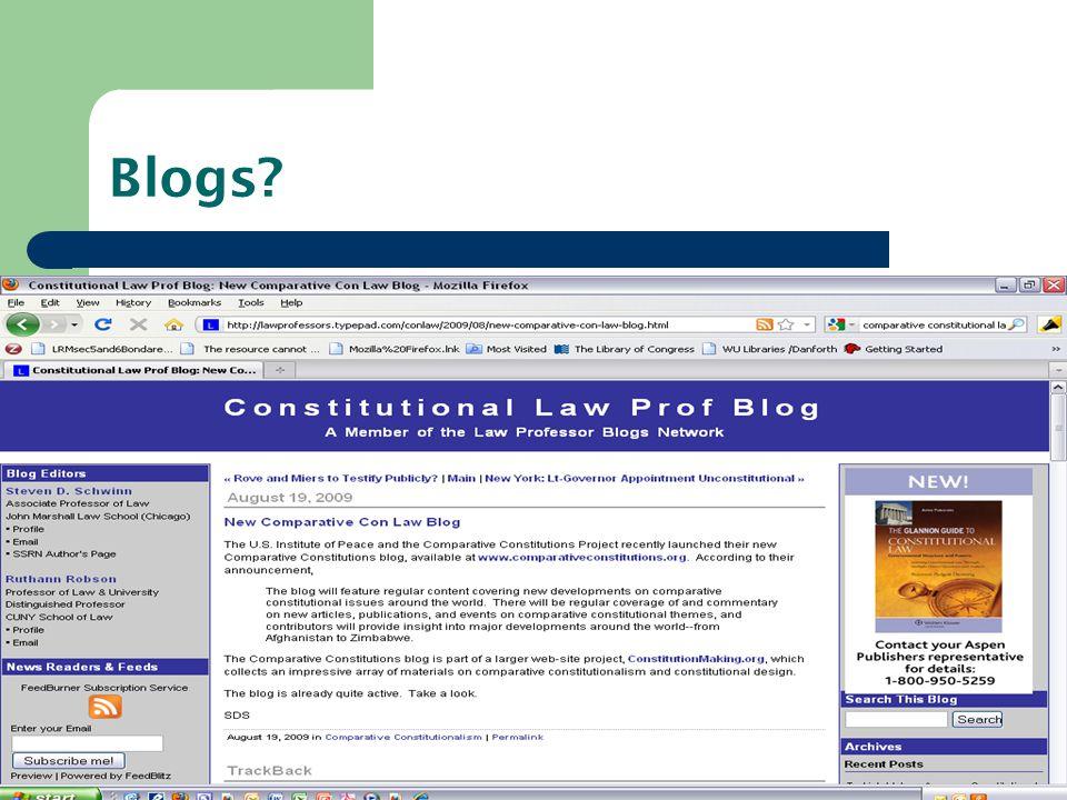 Blogs?