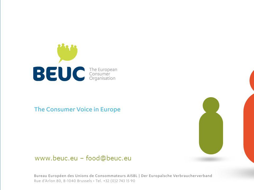 www.beuc.eu – food@beuc.eu