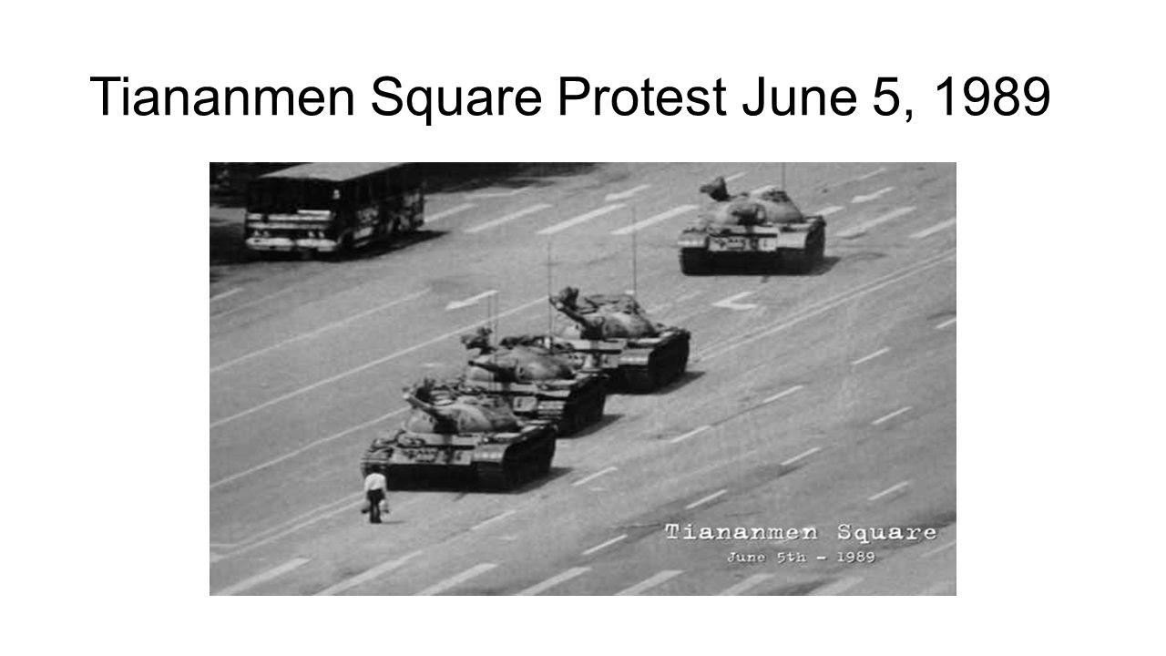Tiananmen Square Protest June 5, 1989