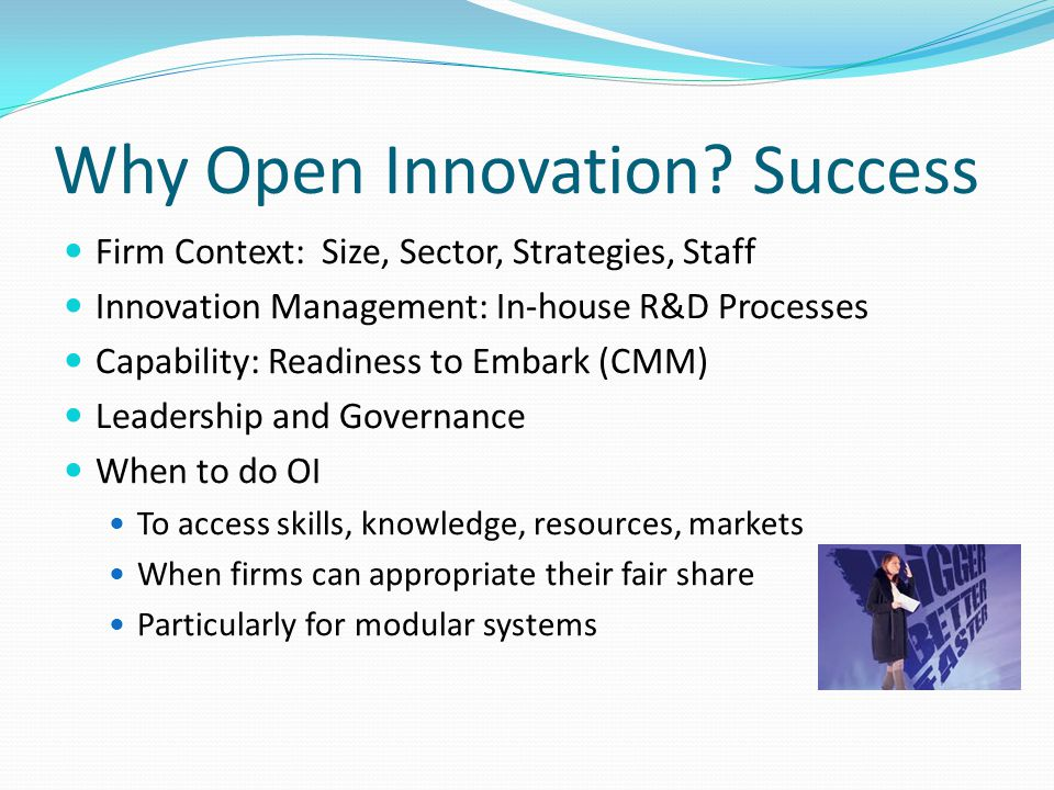 Why Open Innovation.