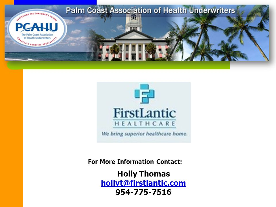 Holly Thomas hollyt@firstlantic.com 954-775-7516 hollyt@firstlantic.com For More Information Contact: