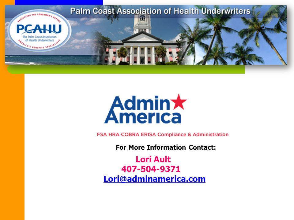 Lori Ault 407-504-9371 Lori@adminamerica.com For More Information Contact: