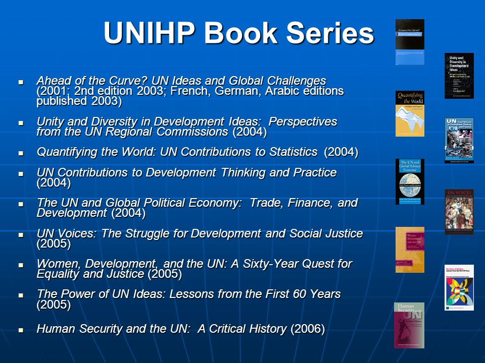 UNIHP Book Series Ahead of the Curve.