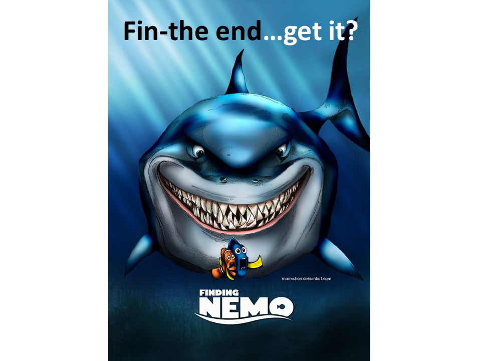 Fin-the end…get it?