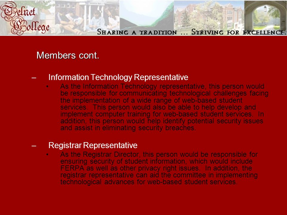 Members cont.