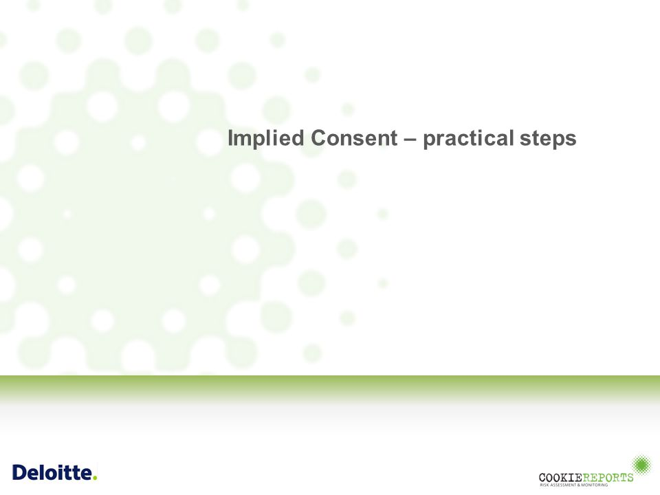 Implied Consent – practical steps