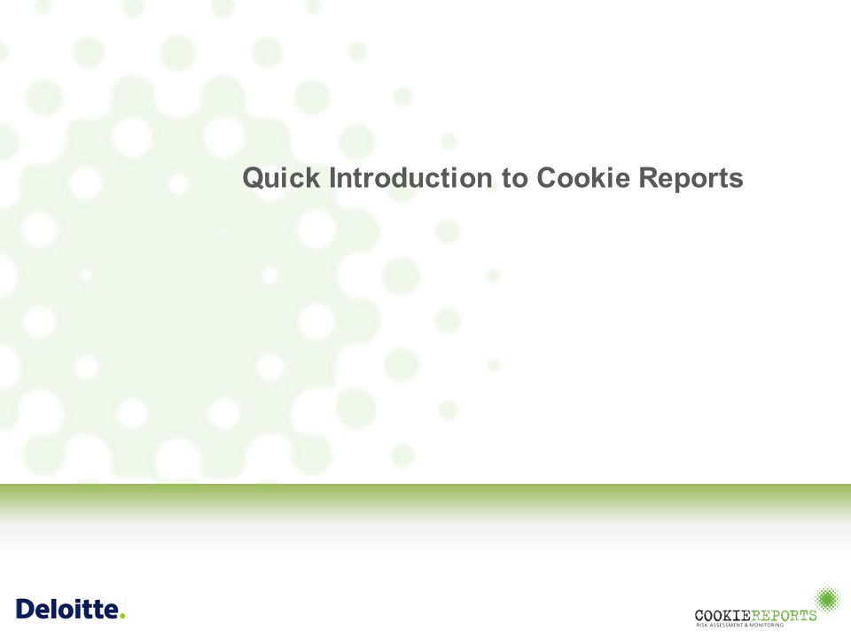 Quick Introduction to Cookie Reports