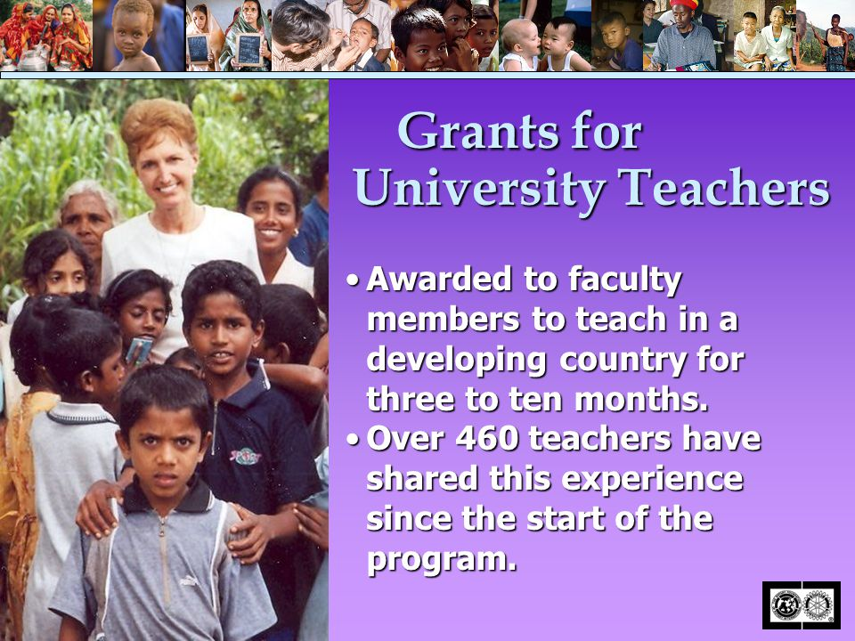 Awarded to faculty members to teach in a developing country for three to ten months.Awarded to faculty members to teach in a developing country for th