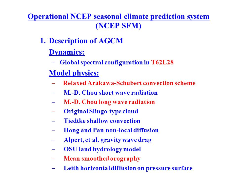 NCEP seasonal climate prediction system 2.