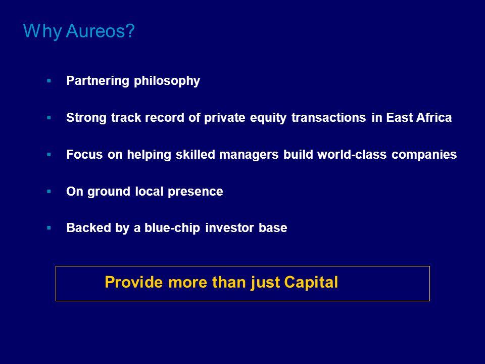 Why Aureos.