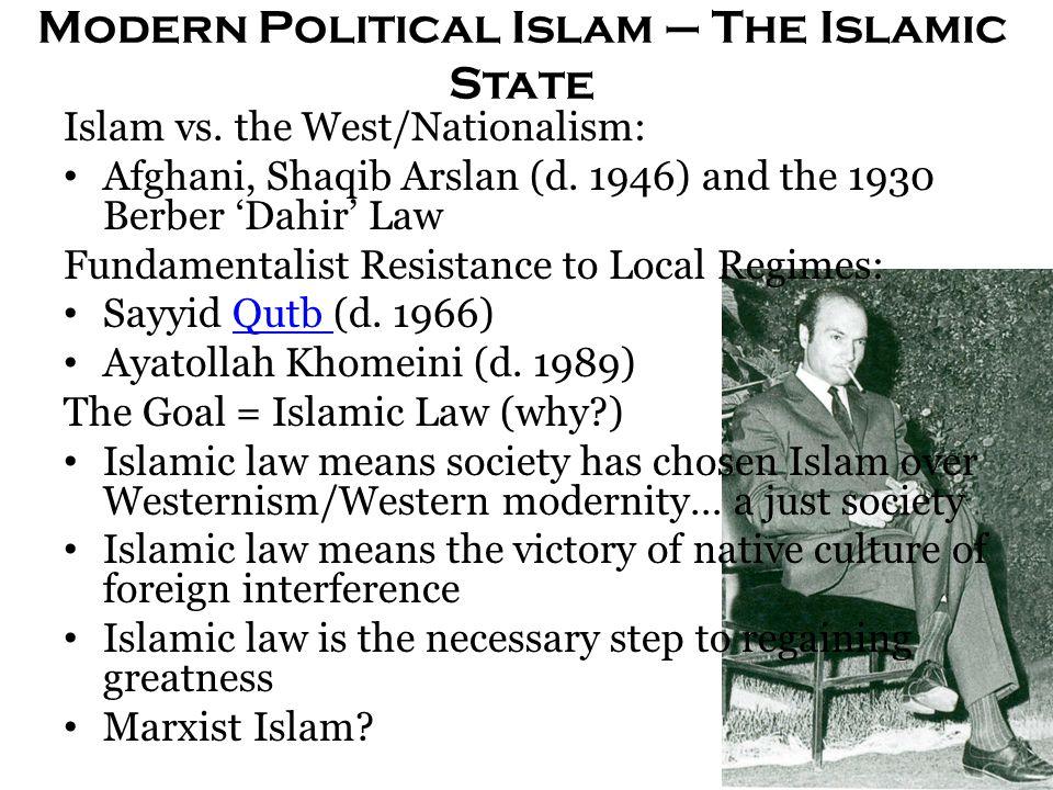Modern Political Islam – The Islamic State Islam vs.