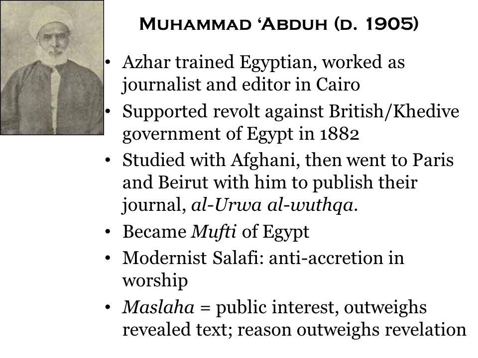 Muhammad 'Abduh (d.